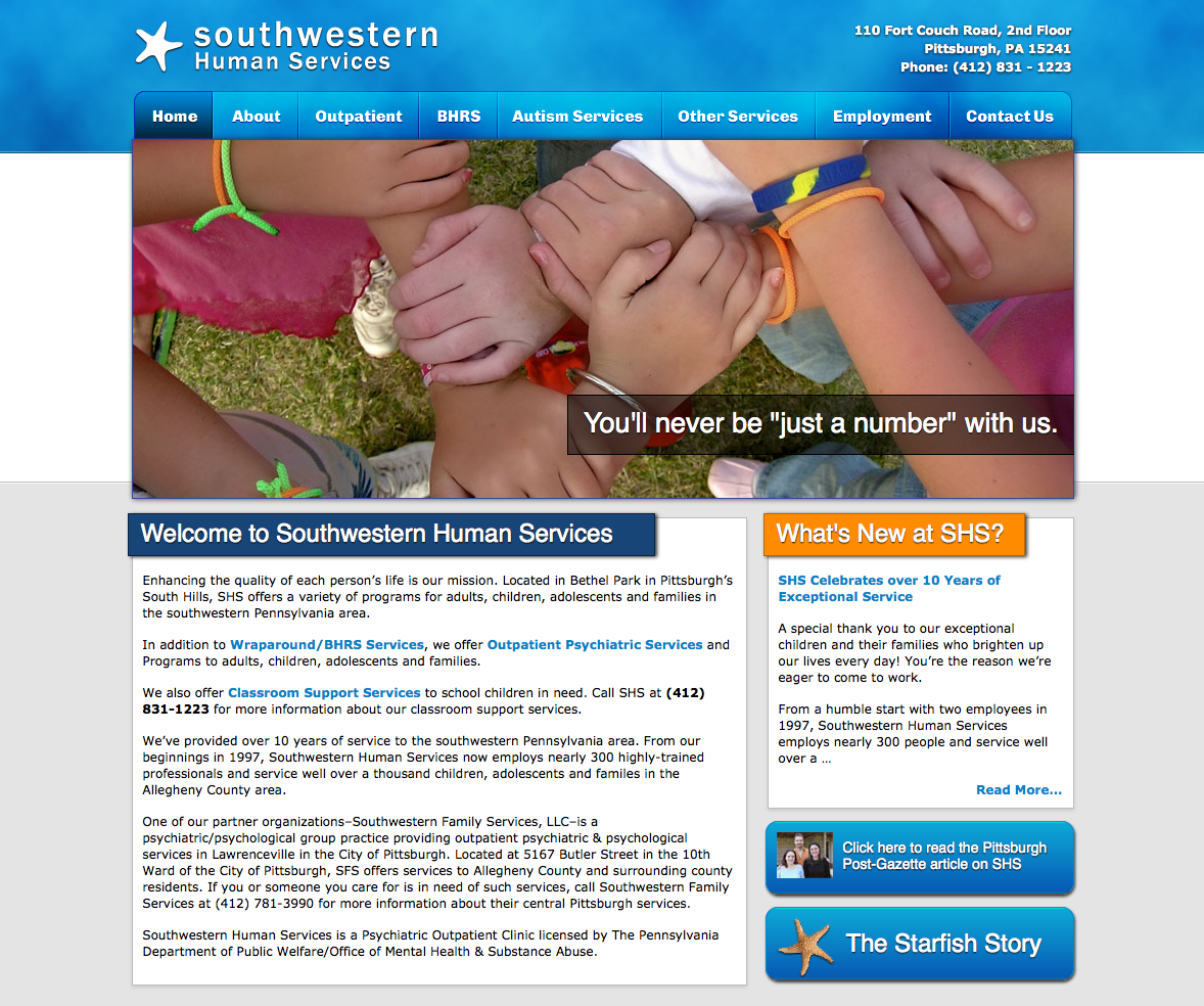 Southwestern Human Services Screenshot